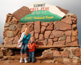 July 2009 - Kyler with his Aunt Donna on top of Pike's Peak, Colorado