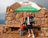 July 2009 - Kyler with his grandpa Don Boyd on top of Pike's Peak, Colorado