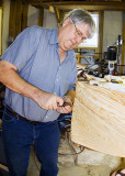 Parks Masterson working on an Everglades Pole Boat in December 2009