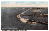 1920 - aerial view of the new causeway to Miami Beach, later the County Causeway and then MacArthur Causeway
