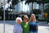 December 2009 - Esther Majoros Criswell, Karen and Donna Boyd about to dine at Joe's Stone Crab