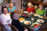 December 2009 - Diane Dubinsky Sheridan, Donna, Norma Dubinsky, Esther Criswell and Karen at Christmas dinner