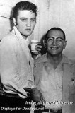 1956 - Elvis Presley with Manny, security guard, at the Olympia Theatre in Miami