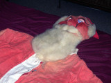 Charlis father's old santa suit in 2005