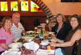 April 2010 - Karen, Don, Brenda and Linda Mitchell Grother about to devour great Cuban dinners