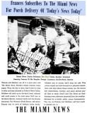 1962 - Frances Wodzinski and Don Boyd in a Miami News advertisement - full ad