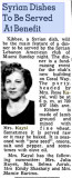 1950 - Mrs. Rose Kayal in a Miami News article