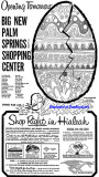 1960 - full page ad for the opening of the Palm Springs Village Shopping Center on March 30th