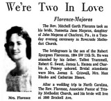 1961 - article about Karen's Aunt Nan getting married