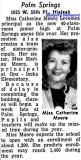 1957 - Miss Catherine Moore, first principal of Palm Springs Junior High School in Hialeah