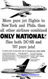 1960 - ad for National Airlines B707 and DC-8B service from Miami