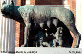 2007 - the Romulus and Remus statue with the Capitoline Wolf, donated by Benito Mussolini