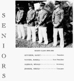 1962 - Senior  Class Officers for the Miami Military Academy