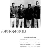 1962 - Sophomore Class Officers for the Miami Military Academy