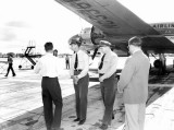 1947 - Flight crew group with National Airlines aircraft at Tallahassee, FL