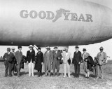 1930 - the Goodyear Blimp Defender at Miami Municipal Airport
