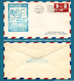 1947 - First Day Cover for Amelia Earhart Field Dedication, October 26, 1947