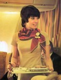 1970's - Cheryl, one of National Airlines beautiful flight attendants