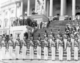 1940 - Miami Edison Senior High Cadettes in Washington, DC (left half of image)