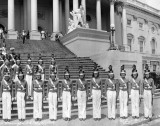 1940 - Miami Edison Senior High Cadettes in Washington, DC (right half of image)