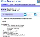 AirNav.com has it wrong as Opa Locka Airport