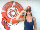 2003 - Dawn Landes, daughter of CWO4 (BOSN) Donald L. Landes, USCG Retired (deceased) onboard CGC EAGLE