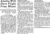 1937 - article about Amelia Earhart getting ready to leave Miami Municipal Airport on her ill-fated round the world flight