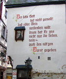 VERSE PAINTED ON BUILDING