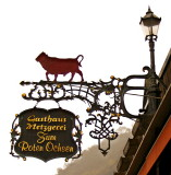 GUESTHOUSE 'RED OX' SIGN