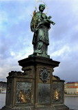 A STATUE OF ST JOHN OF NEPOMUK   793