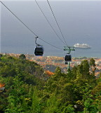 A CABLE CARS AT TOP OF RIDE   537