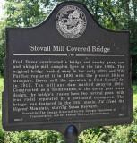 Stovall Mill Bridge Sign