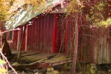 Red Saturated Lean-To-Roof