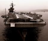 Classic B&W: USS John F Kennedy CV-67