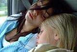two sleepy girls