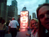 me and mike at the crown fountain