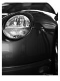 thunderbird headlight in black and white