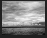cloud bank in black and white