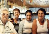 four of us; grandma, me, my niece, and my ma