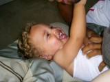 Daddy won't stop tickling!
