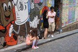 Taking a picture at Hosier Lane