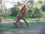 Kangeroo in the wood art