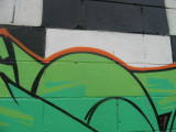 Another close up of the graffiti in Quinn str