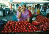 selling tomato's at Ferghama market