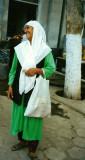 uzbek woman at Ferghana market