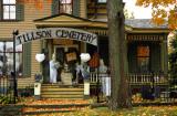 DARK RAINY TILLSON STREET CEMETERY