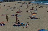 Sunbathing at Seal Beach