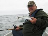 Gunnar med en makrel