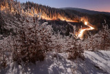 Frozen land around Vernar pass