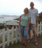 Scenic overlook near Speyside - Chris and Lorie